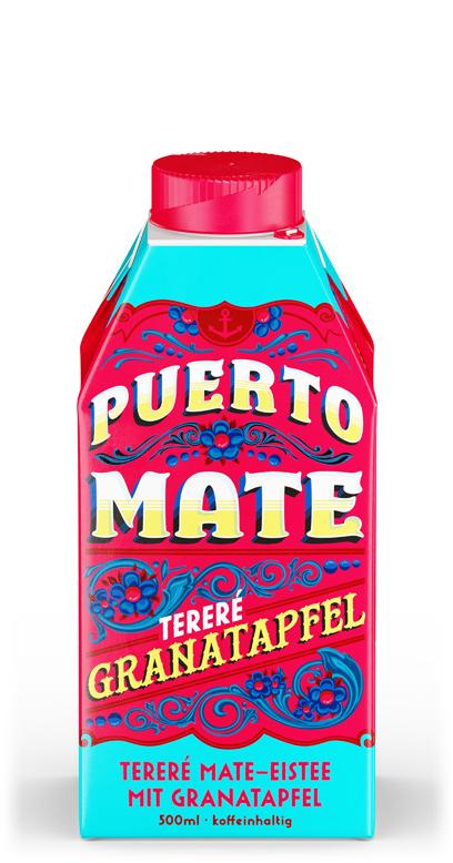 Puerto Mate - Pomegranate - 1 x 500ml Tetra-Pak