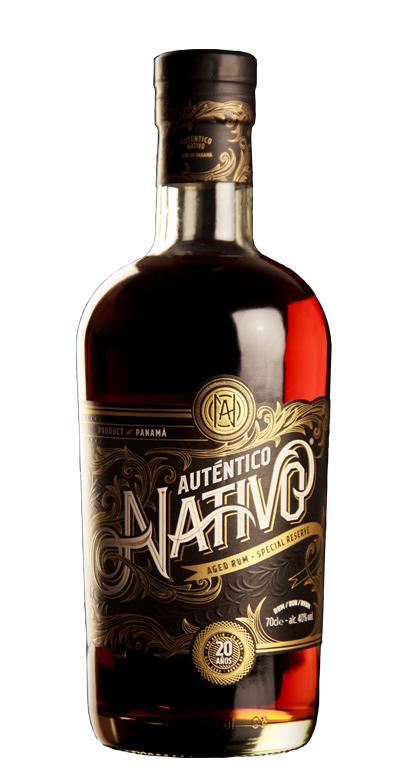 Auténtico Nativo - 20 Años de edad Ron - 1 x 70cl Botella de vidrio
