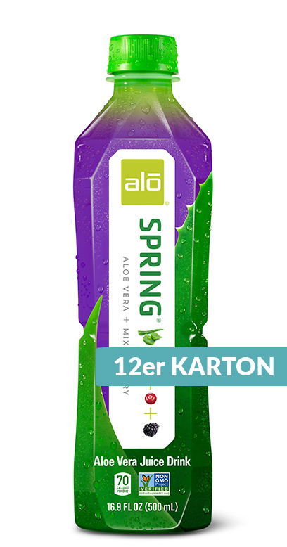 Alo - Aloe Vera Drink - Spring, Mixed Berries - 12 x 500ml PET Bottle