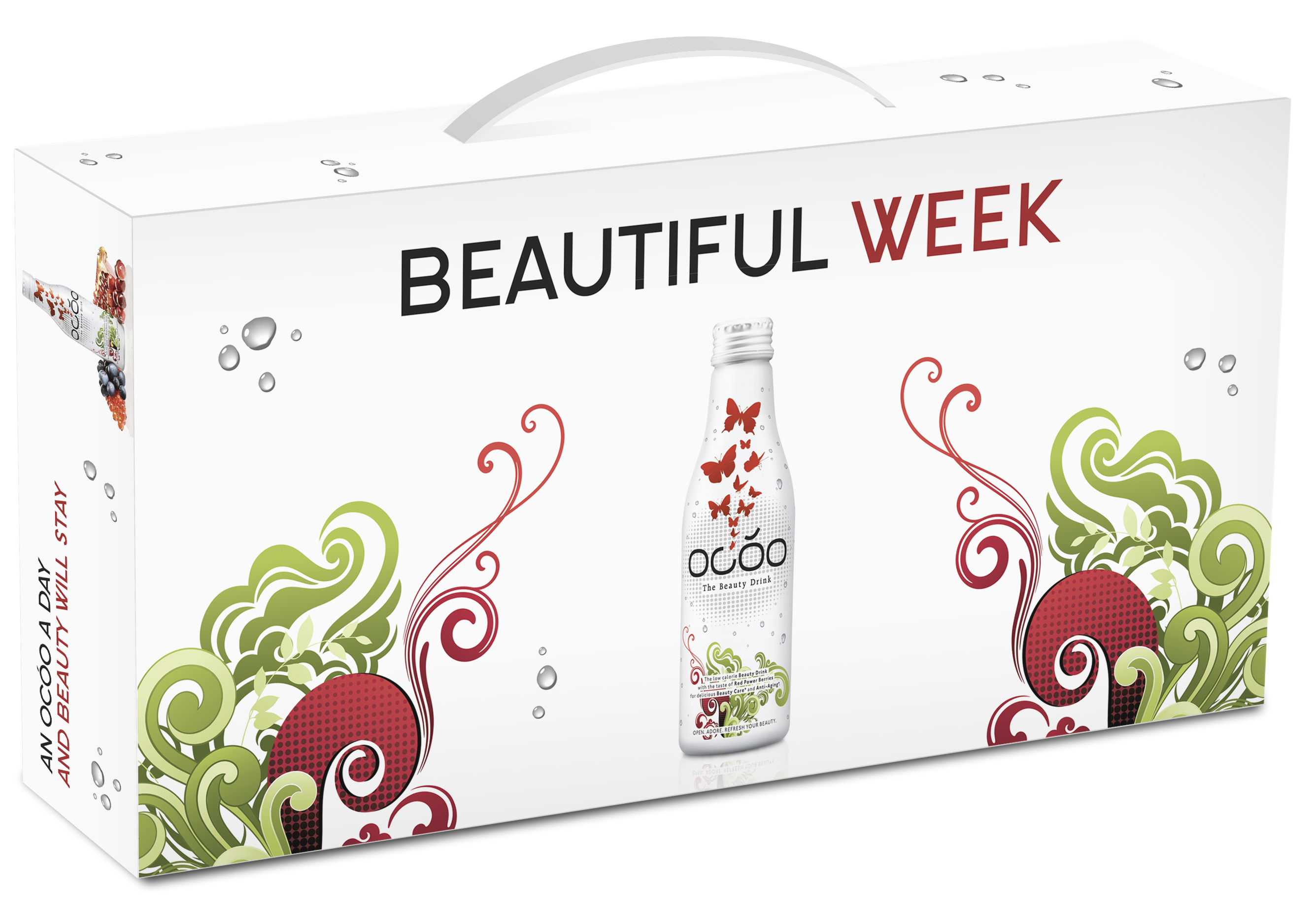 OCOO - The Beauty Drink, 9 x 7pcs. WeekPack - 63 x 250ml Glass Bottle