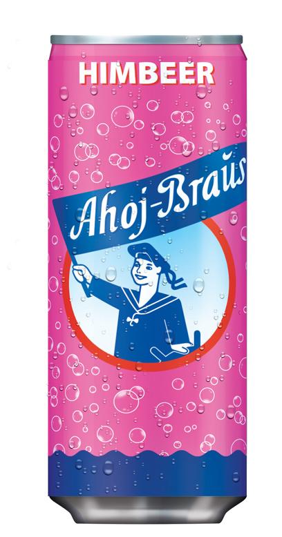 Ahoj Brause Drink - Raspberry - 1 x 330ml Can