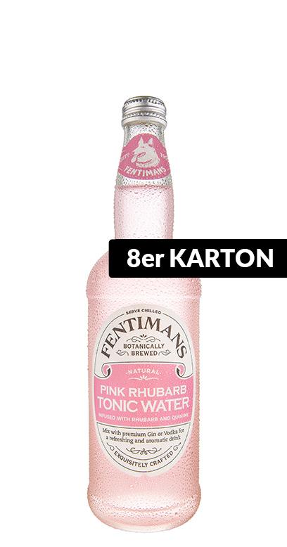 Fentimans - Pink Ruhbarb Tonic Water - 8 x 500ml Glass Bottle
