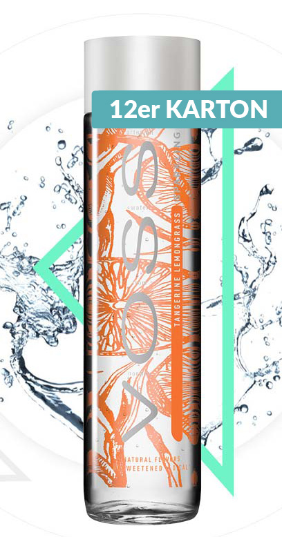 Voss Water - Premium Water - Tangerine and Lemongrass, sparkling - 12 x 375ml Glass Bottle