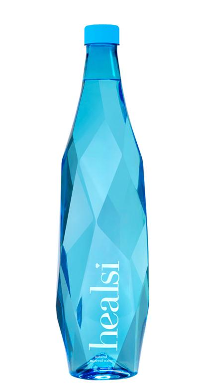 healsi Water - Diamond Bottle, blue, still - 1 x 1000ml PET Bottle