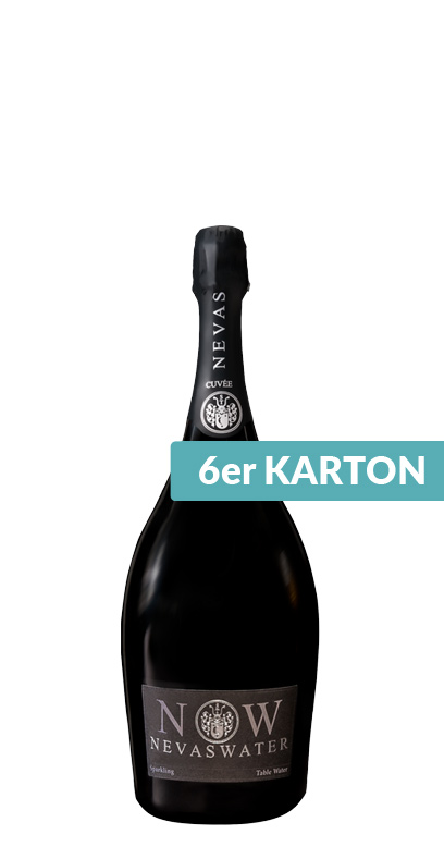 Nevas Water - Premium Cuvée Water, sparkling - 6 x 750ml Glass Bottle