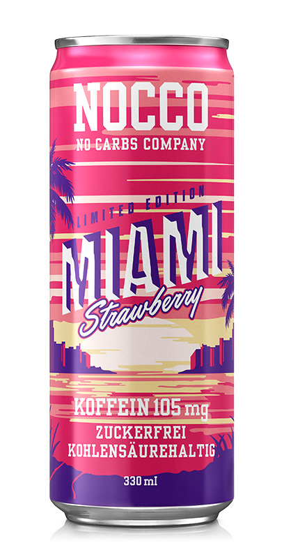 NOCCO BCAA - Miami Strawberry - 1 x 330ml Can