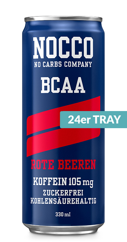NOCCO BCAA - Red berries - 24 x 330ml Can