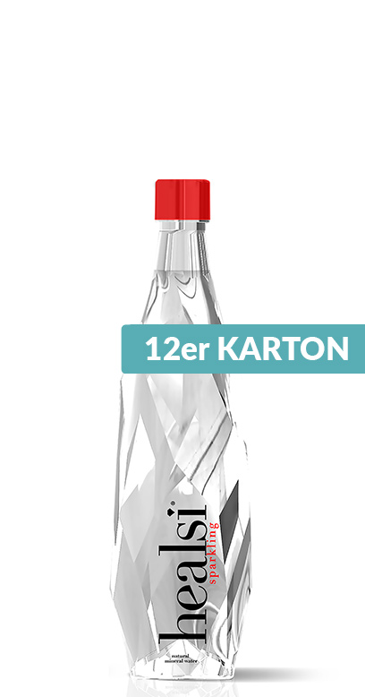 healsi Water - Diamond Bottle, crystal, sparkling - 12 x 400ml Glass Bottle