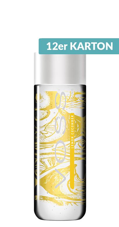 Voss Water - Premium Water - Lemon and Cucumber, sparkling - 12 x 330ml PET Bottle