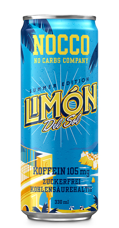 NOCCO BCAA - Limon del Sol - 1 x 330ml Can