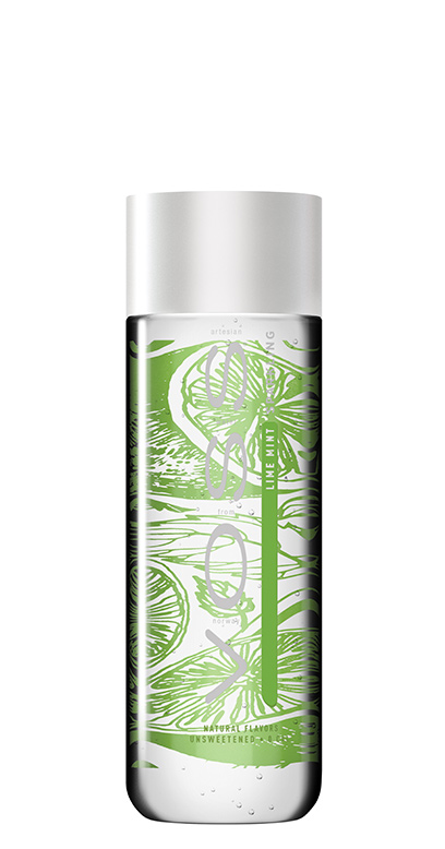 Voss Water - Premium Water - Lime and Mint, sparkling - 1 x 330ml PET Bottle