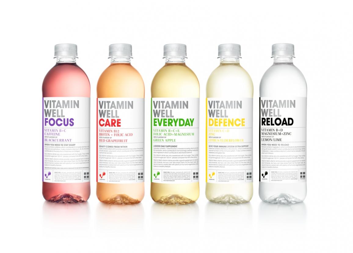 Vitamin Well - Antioxidant, Peach - 1 x 500ml PET Bottle