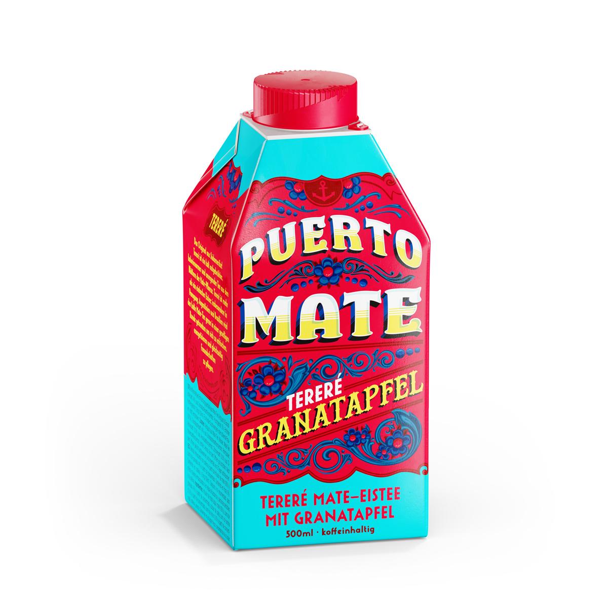 Puerto Mate - Pomegranate - 8 x 500ml Tetra-Pak