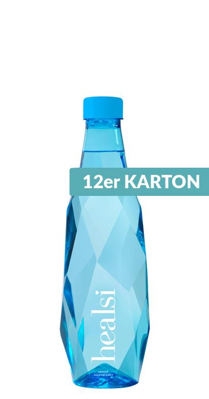 healsi Water - Diamond Bottle, blue, still - 12 x 500ml PET Bottle