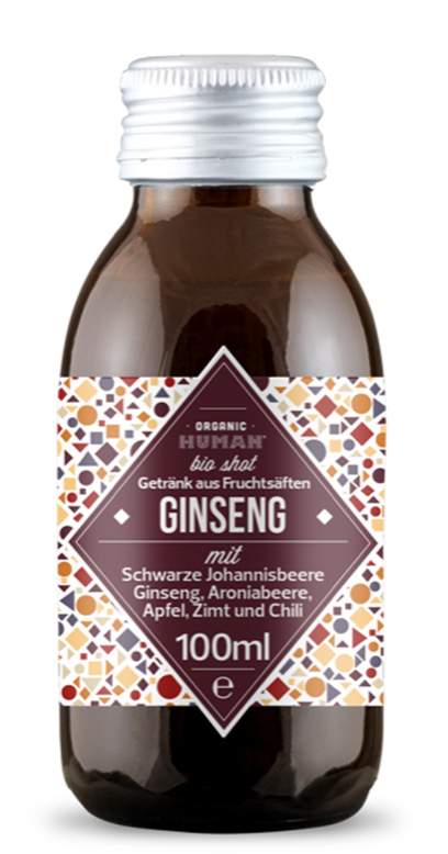 Organic Human - Bio Organic Shot, Ginseng - 1 x 100ml Glass Bottle