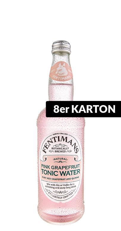 Fentimans - Pink Grapefruit Tonic Water - 8 x 500ml Glass Bottle