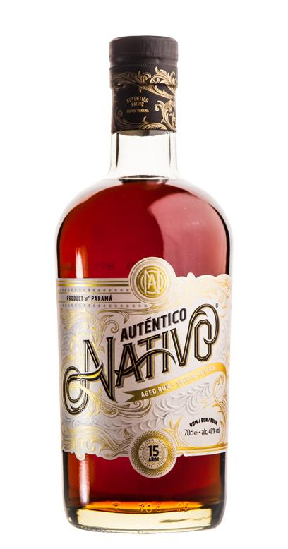 Auténtico Nativo - 15 Años de edad Ron - 1 x 70cl Botella de vidrio