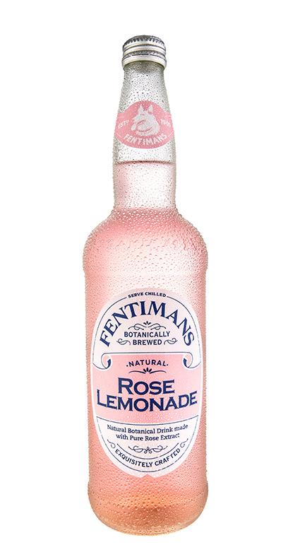 Fentimans - Rose Lemonade - 1 x 750ml Glass Bottle