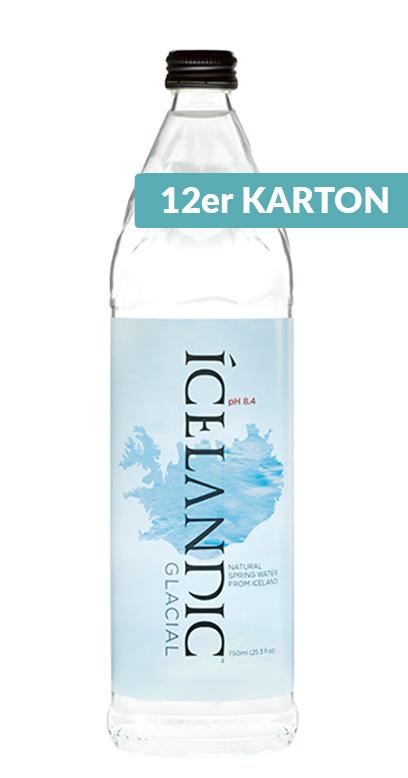 Icelandic Glacial Water - Iceland Premium Water, still - 12 x 750ml Glass Bottle