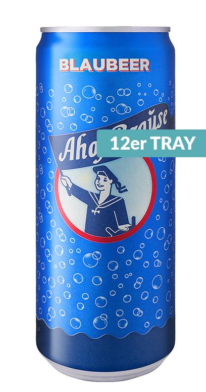 Ahoj Brause Drink - Blueberry - 12 x 330ml Can