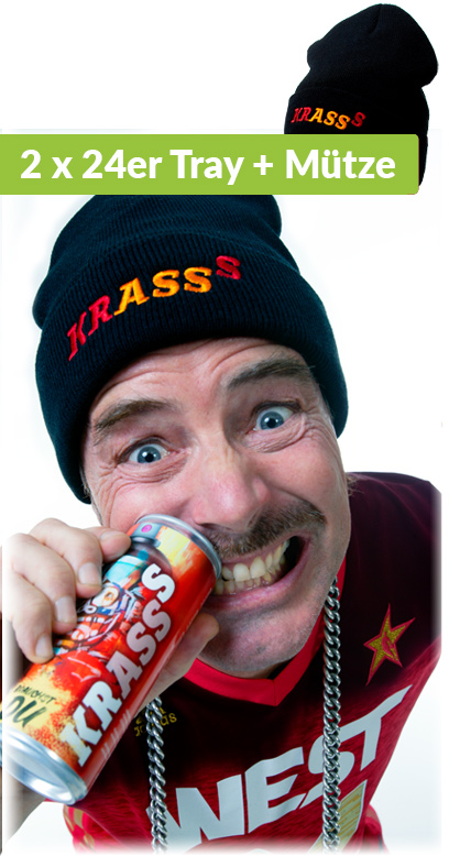 Krasss Drink - Youuu need, Bundle with Krasss cap - 48 x250ml Can
