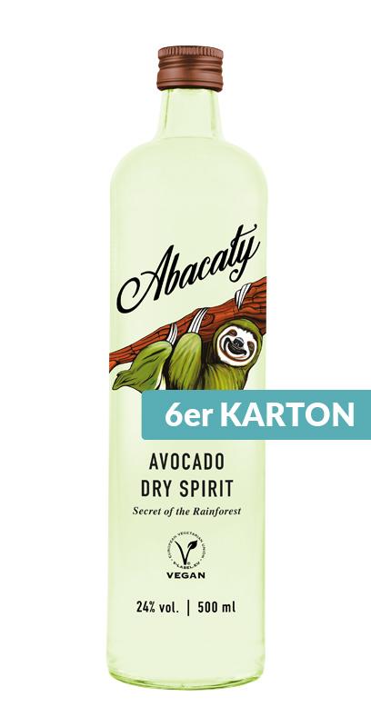 Abacaty - Aguacate Seco Espíritu - 6 x 50cl Botella de vidrio