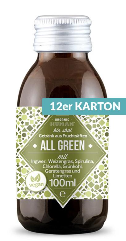 Organic Human - Bio Organic Shot, All Green - 12 x 100ml Glass Bottle