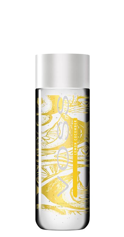 Voss Water - Premium Water - Lemon and Cucumber, sparkling - 1 x 330ml PET Bottle