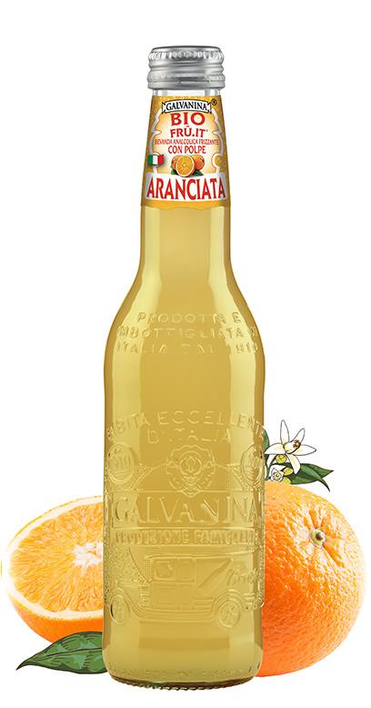 Galvanina - Bio lemonade, Fru it Orange - 1 x 335ml Glass Bottle