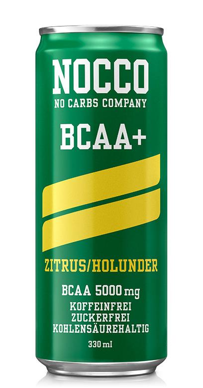 NOCCO BCAA+ - Citrus, Elderberry - 1 x 330ml Can