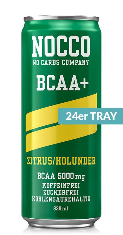 NOCCO BCAA+ - Citrus, Elderberry - 24 x 330ml Can