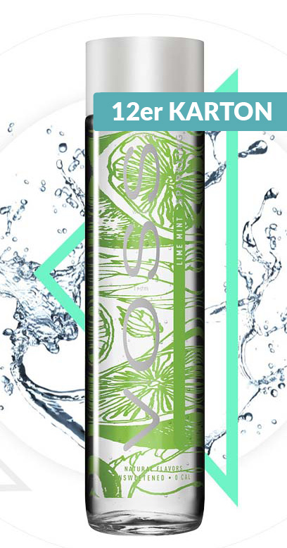 Voss Water - Premium Water - Lime and Mint, sparkling - 12 x 375ml Glass Bottle
