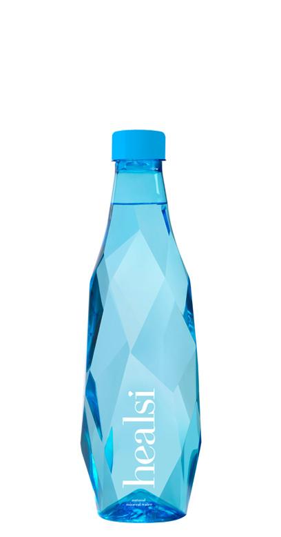 healsi Water - Diamond Bottle, blue, still - 1 x 500ml PET Bottle