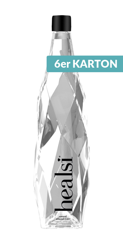 healsi Water - Diamond Bottle, crystal, still - 6 x 850ml Glass Bottle