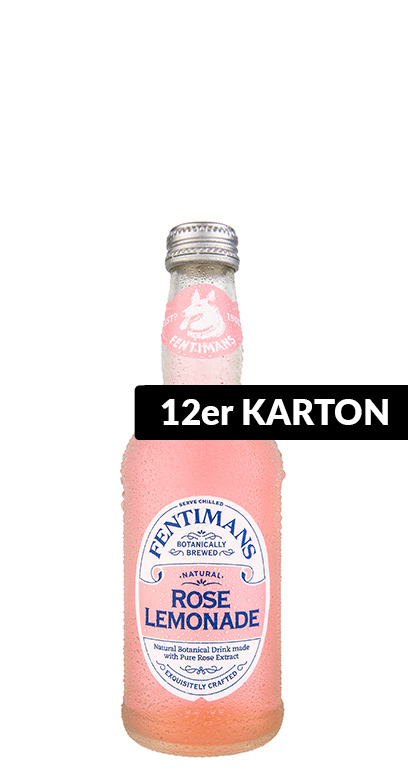 Fentimans - Rose Lemonade - 12 x 275ml Glass Bottle