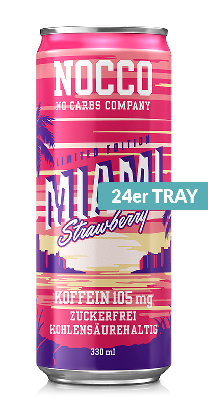 NOCCO BCAA - Miami Strawberry - 24 x 330ml Can