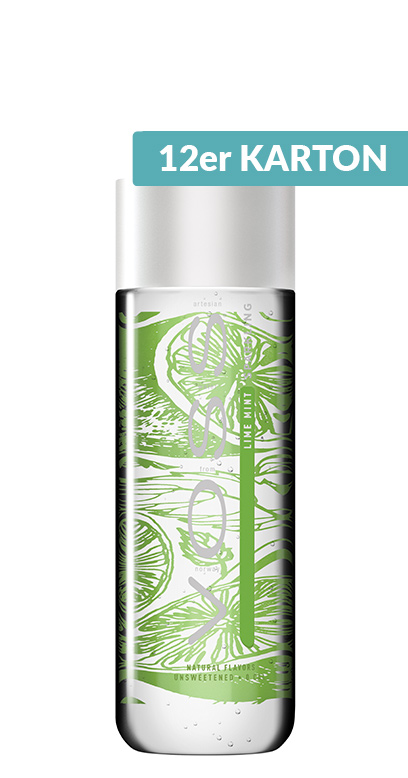 Voss Water - Premium Water - Lime and Mint, sparkling - 12 x 330ml PET Bottle