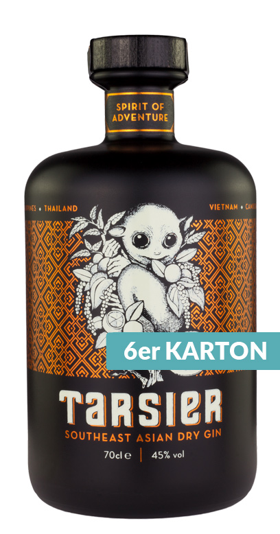 Tarsier - South East Asian Dry Gin - 6 x 700ml Glass Bottle
