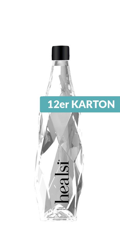 healsi Water - Diamond Bottle, crystal, still - 12 x 400ml Glass Bottle