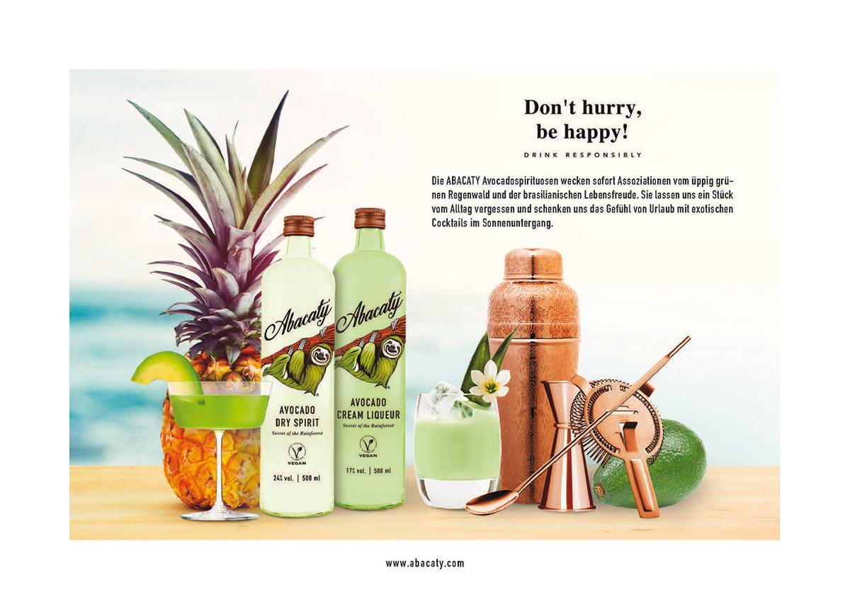 Abacaty - Avocado Dry Spirit - 1 x 500ml Glass Bottle