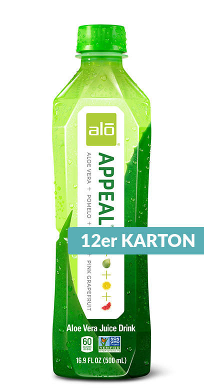 Alo - Aloe Vera Drink - Appeal, Pomelo, Lemon and Pink Grapefruit - 12 x 500ml PET Bottle