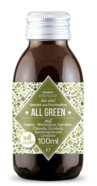 Organic Human - Bio Organic Shot, All Green - 1 x 100ml Glass Bottle