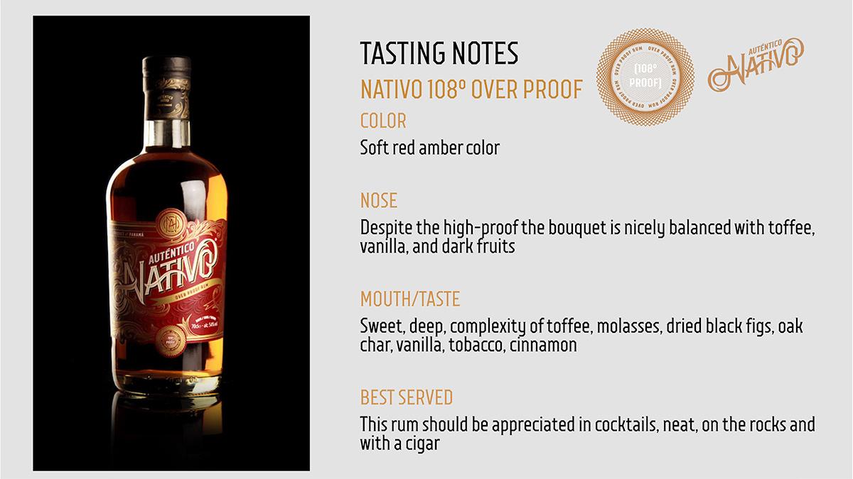 Auténtico Nativo - Overproof Rum - 6 x 700ml Glass Bottle