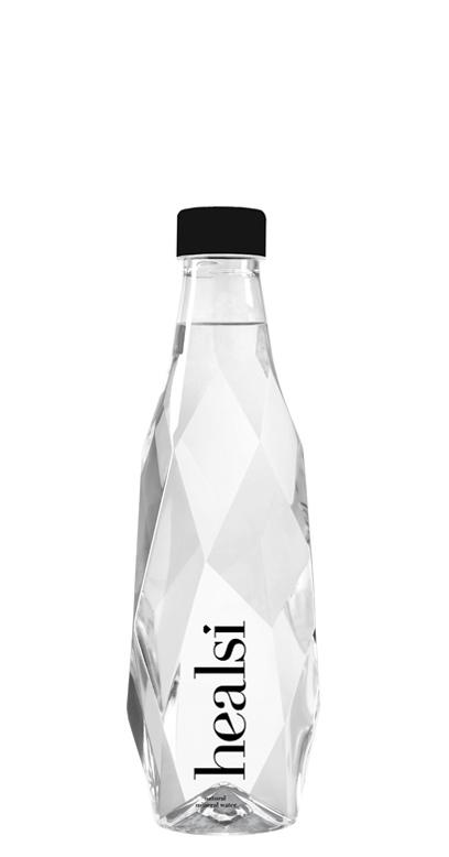 healsi Water - Diamond Bottle, crystal, still - 1 x 500ml PET Bottle