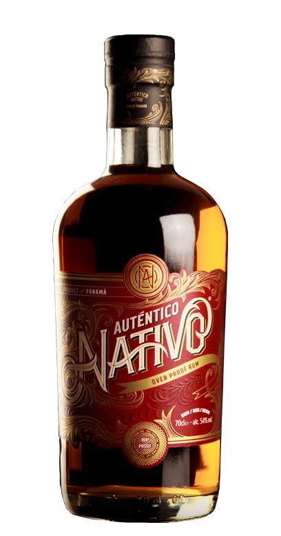 Auténtico Nativo - Overproof Rum - 1 x 70cl Botella de vidrio