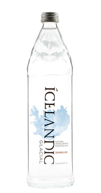 Icelandic Glacial Water - Iceland Premium Water, sparkling - 1 x 750ml Glass Bottle