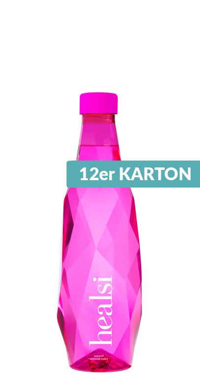 healsi Water - Diamond Bottle, pink, still - 12 x 500ml PET Bottle