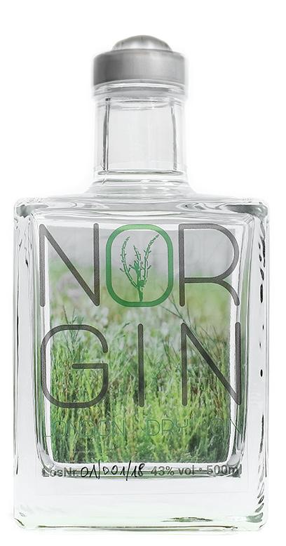 NorGin - Premium London Dry Gin - 1 x 500ml Glass Bottle