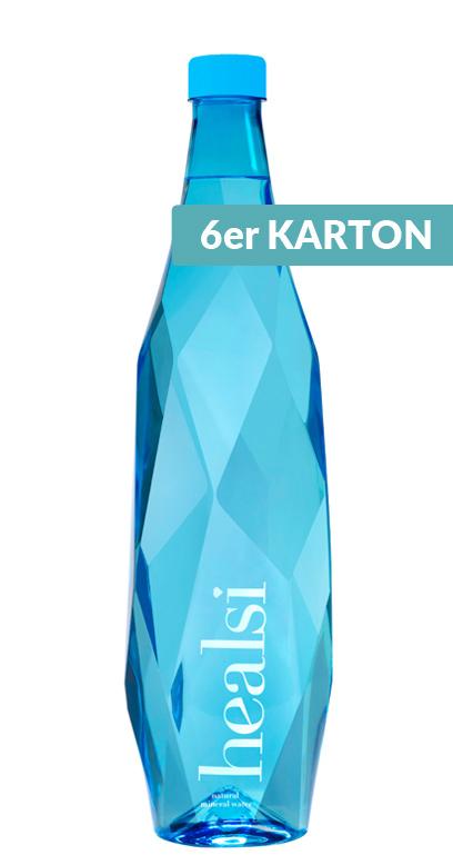 healsi Water - Diamond Bottle, blue, still - 6 x 1000ml PET Bottle